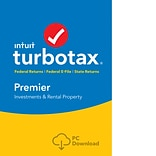 TurboTax Premier Fed + Efile + State 2018 for 1 User, Windows, Download (0606101)