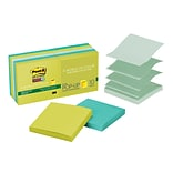 Post-it®Super Sticky Pop-up Notes, 3 x 3, Bora Bora Collection, Recycled, 10 Pads/Pack (R33010SST)
