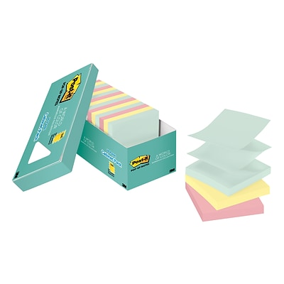 Post-it® Pop-up Notes, 3 x 3, Marseille Collection, 18 Pads/Pack (R330-18APCP)