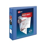 Avery Heavy-Duty 2 3-Ring View Binder, Periwinkle (17597)