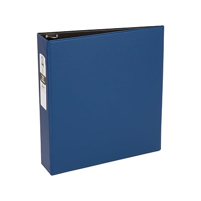 Avery Economy 2 3-Ring Non-View Binder, Matte Blue/Black Interior (03500)
