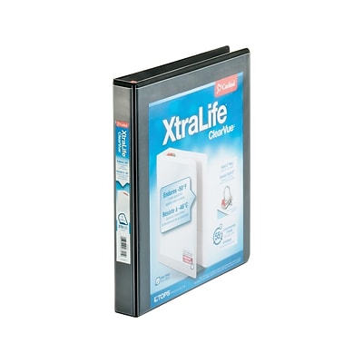 Cardinal XtraLife ClearVue 1 Non-View Binder, Black (CRD 26301)