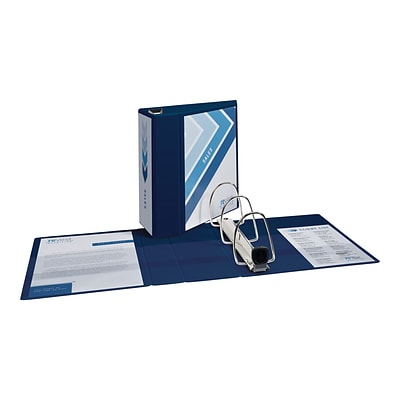 avery heavy duty 5 3 ring view binder navy blue 79806 quill com