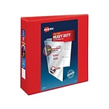 Avery Heavy-Duty 3 3-Ring View Binder, Red (79325)