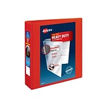 Avery Heavy-Duty 2 3-Ring View Binder, Red (79225)