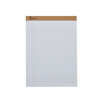 Sustainable Earth by Staples Notepads, 8.5 x 11.75, Wide, White, 50 Sheets/Pad, 12 Pads/Pack (16767)