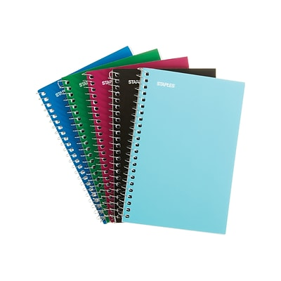 Staples Memo Pads, 4 x 6, College, Assorted, 50 Sheets/Pad, 5 Pads/Pack (11495)