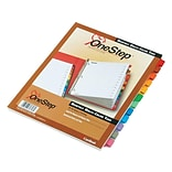 Cardinal OneStep Monthly Paper Dividers, 12-Tab, Multicolor (CRD 60318CB)