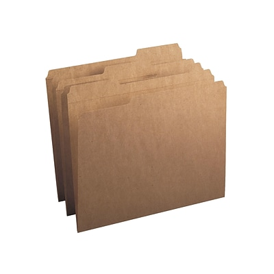 Smead File Folder, 1/3-Cut Tab, Letter Size, Kraft, 50/Box (10830)