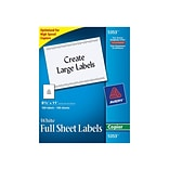 Avery Copier Shipping Labels, 8 1/2 x 11, 1/Sheet, 100 Sheets/Pack (5353)
