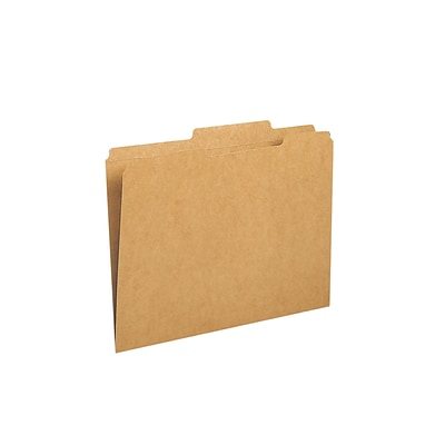 Smead File Folders, Reinforced 2/5-Cut Tab Right Of Center, Guide Height, Letter Size, Kraft, 100/Box (10776)