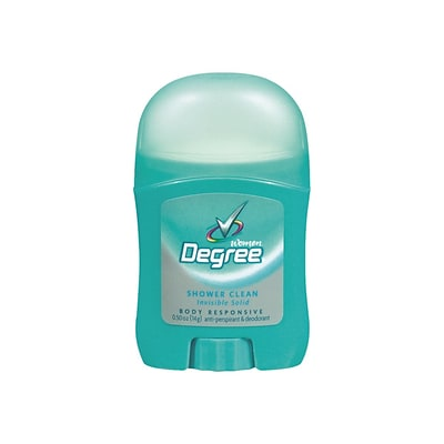 Degree Invisible Solid Anti-Perspirant & Deodorant, Shower Clean, 0.5 oz., 36/Carton (CB564300)