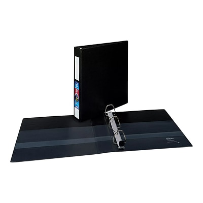 Avery Heavy-Duty 1 1/2 3-Ring Non-View Binder, Black (79991)