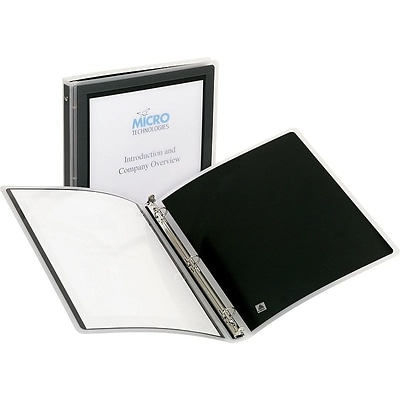Avery Flexi-View Standard 1/2 3-Ring Binder, Black (15767)