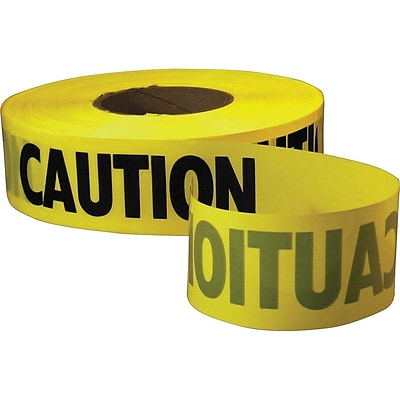 Empire Level Standard Barricade Tape, 3 x 1000, Yellow (71-1001)
