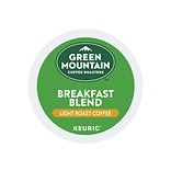 Green Mountain Coffee Roasters Breakfast Blend Coffee, Keurig® K-Cup® Pods, Light Roast, 24/Box (652