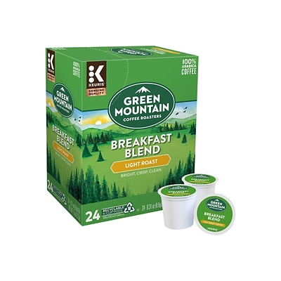 Green Mountain Breakfast Blend Coffee, Keurig® K-Cup® Pods, Light Roast, 24/Box (6520)
