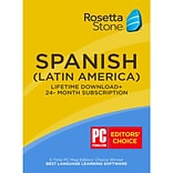 Rosetta Stone Learn Spanish: 24 Month Online Subscription, Plus Bonus Lifetime Download
