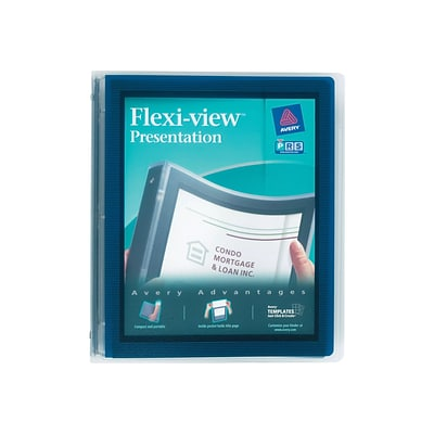 Avery Flexi-View 1 Binder, Navy Blue (17685)