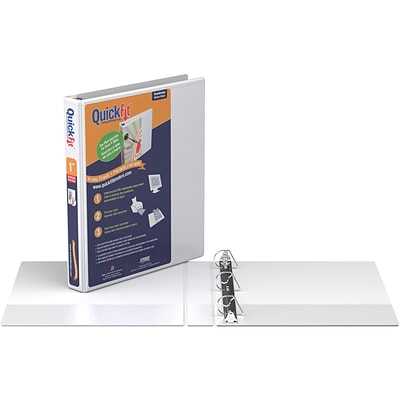 Stride® QuickFit® 1 D-Ring View Binder, White
