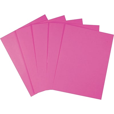 Wausau Papers Astrobrights Multipurpose Paper, 60 lbs., 8.5 x 11, Fireball Fuchsia, 500/Ream (22681/21688)