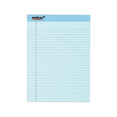TOPS Prism+ Notepads, 8.5 x 11.75, Wide, Blue, 50 Sheets/Pad, 12 Pads/Pack (TOP63120)