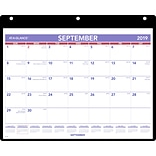 2019-2020 At-A-Glance® 11 x 8 1/4 Academic Desk/Wall Calendar With Cover And Vinyl Holder, Septemb