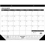 2019-2020 At-A-Glance® 22 x 17 Academic Monthly Desk Pad, 16 Months, September Start (Sk2416-00-20