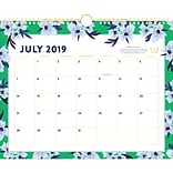 2019-2020 Simplified 14 7/8 x 11 7/8 Academic Monthly Wall Calendar, 12 Months, July Start, Green