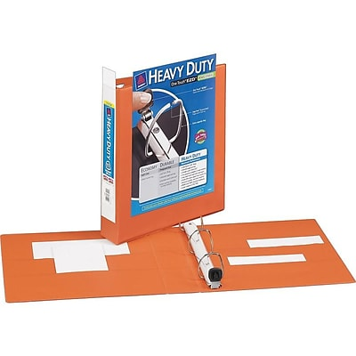 Avery Heavy-Duty View Binder with 3 One Touch EZD Rings, Orange (17556)