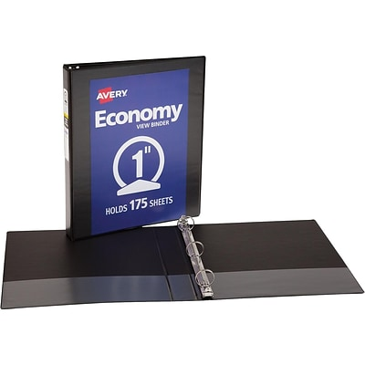Avery Economy View Binder with 1 Round Ring, Black (5710)