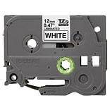 Brother® TZe Series Tape, 1/2, Black Lettering on White Label Tape, 2-Pack