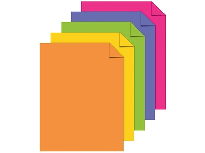 "ASTROBRIGHTS Multipurpose Paper, 24 lbs., 8.5"" x 11"", Assorted, 500/Ream (21289)"