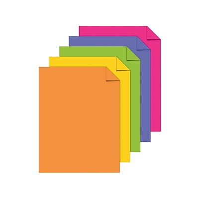ASTROBRIGHTS Multipurpose Paper, 24 lbs., 8.5 x 11, Assorted, 500/Ream (21289)