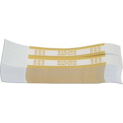 Pap-R Products Wrappers, White with Mustard Print, 1000/Pack (410000)