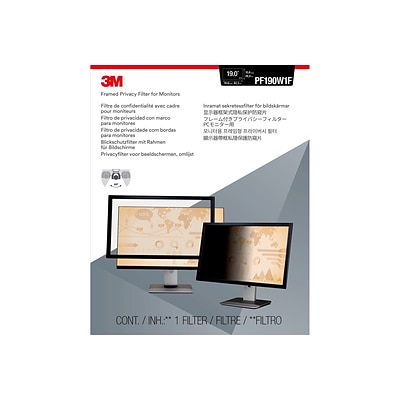 3M™ Framed Privacy Filter for 19 Widescreen Monitor (16:9) (PF190W1F)
