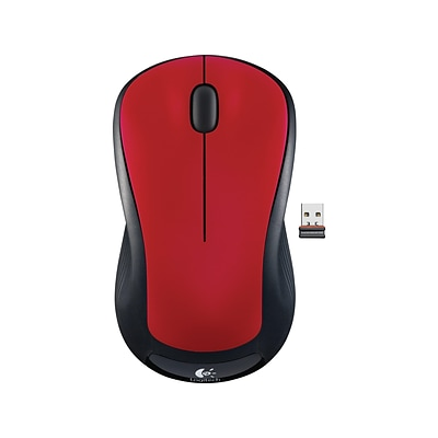 Logitech M310 910-002486 Wireless Laser Mouse, Flame Red Gloss