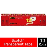 Scotch® Transparent Tape Refill, Crystal Clear Clarity Finish, Glossy, 3/4 x 27.77 yds., 1 Core, 1