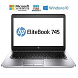HP EliteBook 745 G2, 14 Refurbished Laptop, AMD A6 7050B 2.2GHz Processor, 8 GB Memory, 128GB SSD,