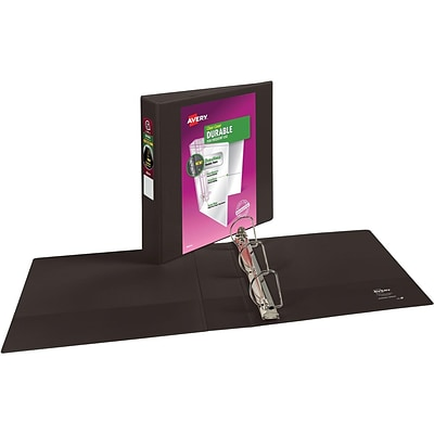 Avery Durable 2 3-Ring View Binder, Black (17031)