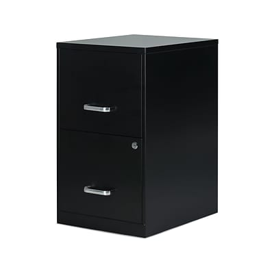 Quill Brand® 2-Drawer Vertical File Cabinet, Locking, Letter, Black, 18D (52149)