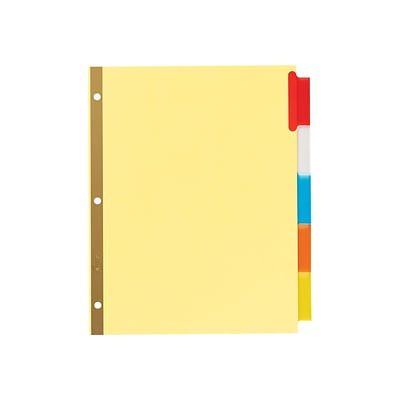 Avery Big Tab Insertable Dividers, Buff Paper, 5 Multicolor Tabs, Gold-Reinforced Edge, 1 Set (11109)