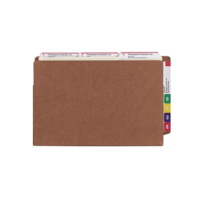 Smead® TUFF Reinforced End-Tab File Pockets, 7 Expansion, Extra Wide Legal, Redrope, 5/Bx (74795)