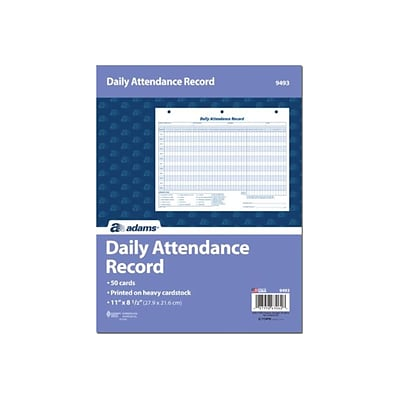Adams Attendance Records, 50/Pack (ABF 9493)
