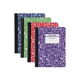 Staples Composition Notebook, 9.75 x 7.5, Wide Ruled, 80 Sheets, Assorted Colors, Each (20702M-CC)