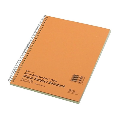 National Brand 1-Subject Notebook, 8 x 10, Narrow Ruled, 80 Sheets, Brown (33008)