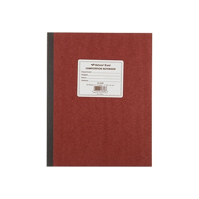 National Brand Computation Notebook, 9 x 11, Quad Ruled, 75 Sheets, Brown (43648)