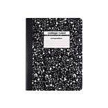 Staples Composition Notebook, 9.75 x 7.5, College Ruled, 80 Sheets, Black, 48/Carton (40451CT)