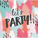Brush Strokes Lets Party Beverage Napkins by Elise, 48 Count