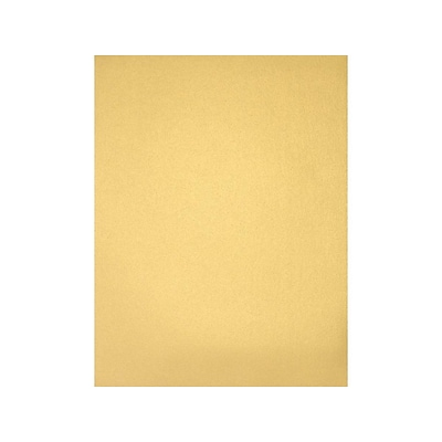 LUX Cardstock Paper, 105 lbs, 8.5 x 11 (US letter), Gold Metallic, 50/Pack (81211-C-40-50)